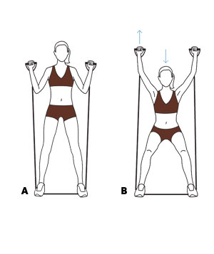 Move 3: Squat With Overhead Press