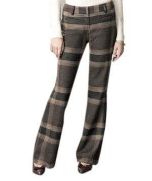 L.L. Bean Signature Wool Plaid Trousers