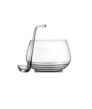Mikasa Ripple Punch Bowl with Ladle