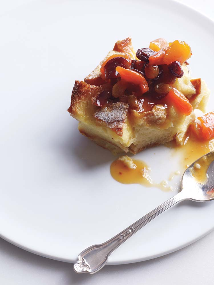 Bread Pudding With Fruit Compote