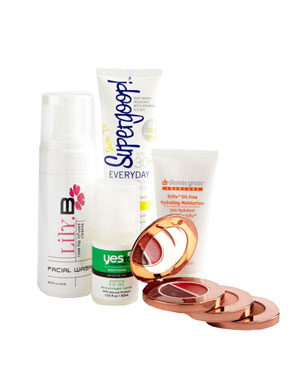 Collection of skin and hiar products