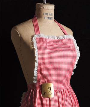 Red gingham apron