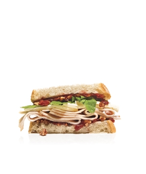 Turkey and Cranberry Chutney Sandwich