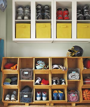 Roomy storage space with organized, non-bulky cabinetry