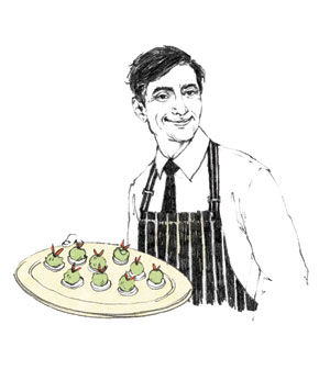 Illustration of caterer