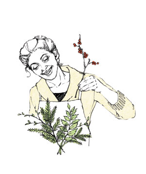 Illustration of a florist