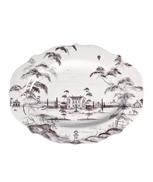 Country Estate large stoneware platter