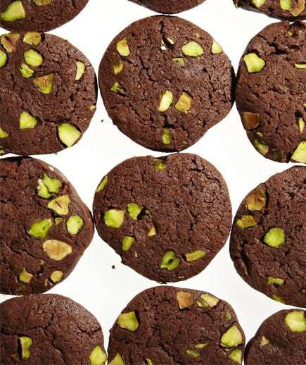 Chocolate-Pistachio Slice-and-Bake Cookies