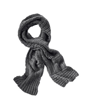 Lands End Canvas Women's Chunky Multi-Rib Scarf