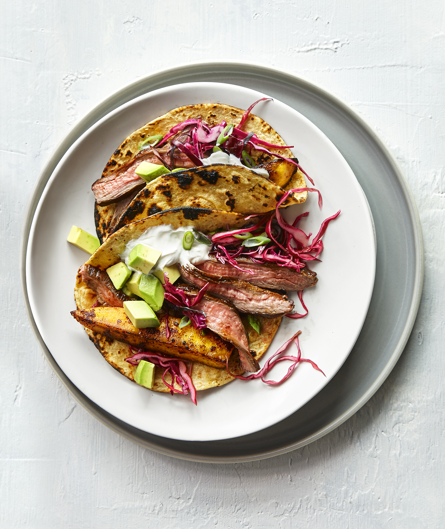 Steak and Plantain Tacos