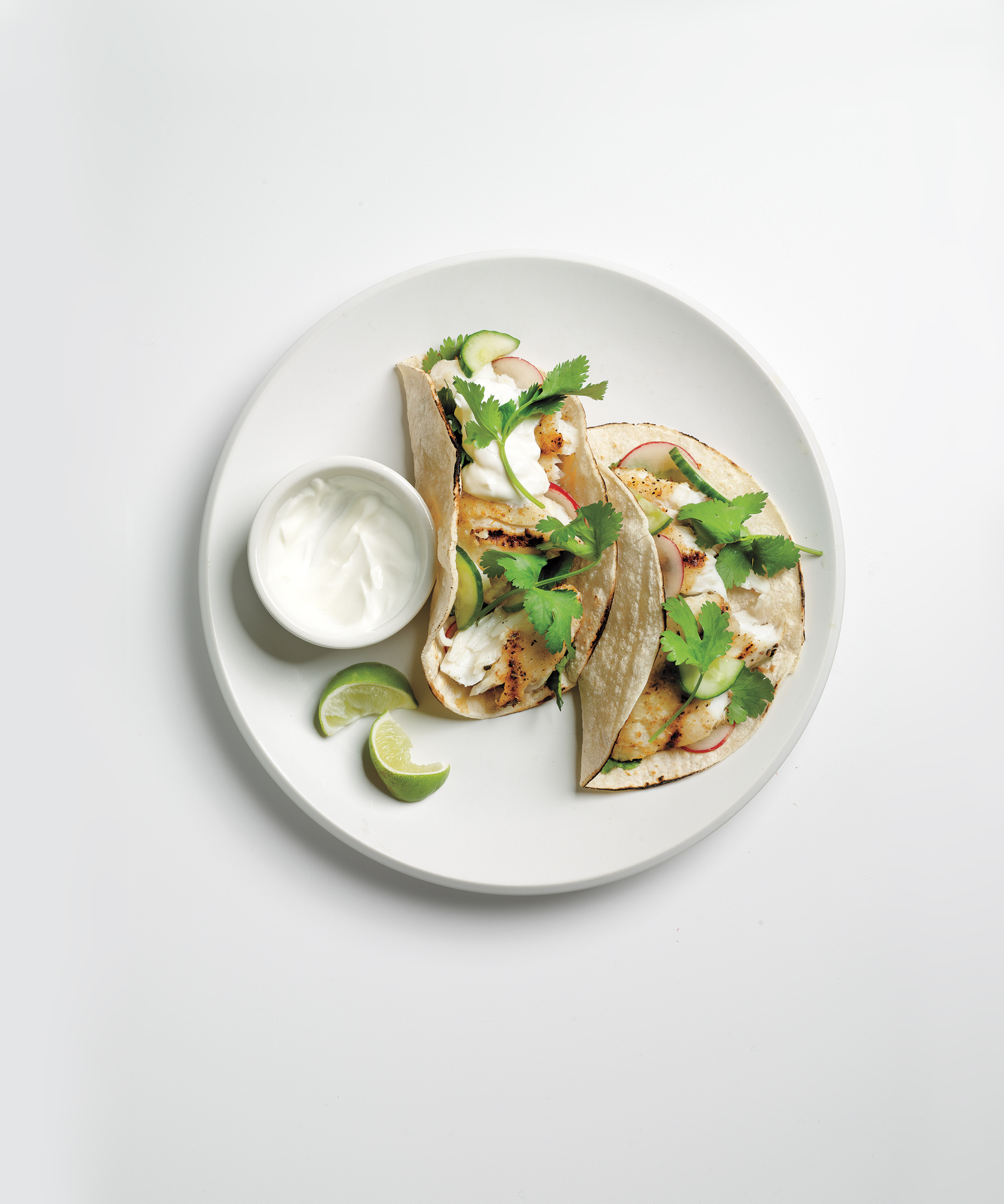 Tilapia Tacos with Cucumber Relish