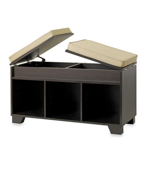 Split-Top Bench Storage Unit