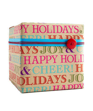 Holiday Typography wrapping paper