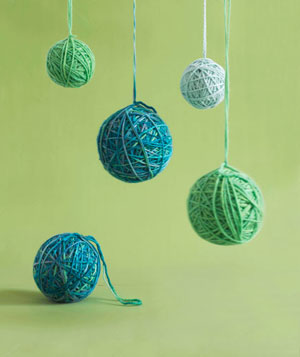 Yarn ornaments