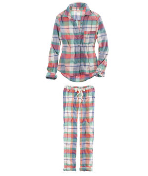 Aerie Softest Flannel Shirt and Skinny Stretch Flannel PJ Pant
