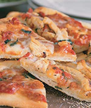 Pizza With Chicken and Basil
