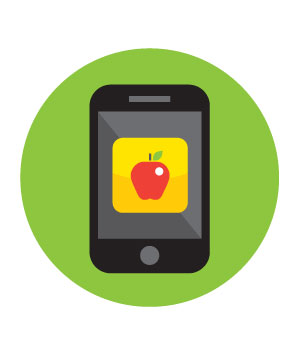 Healthy eating app on a smartphone