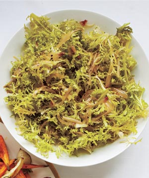 Frisée With Warm Shallot Vinaigrette