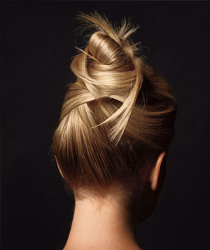 An elaborate updo