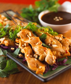 Thai satay with dipping sauce