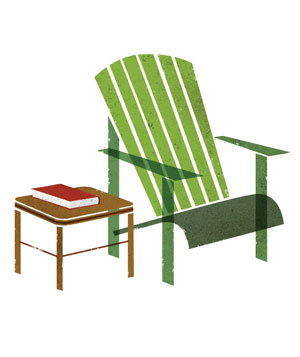 Illustration of a lawn chair
