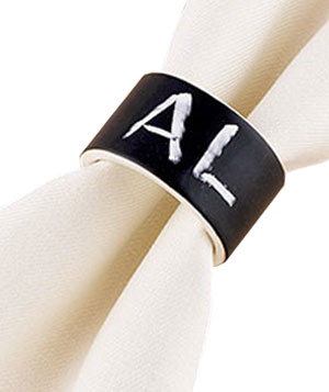 Chalk Talk Napkin Rings