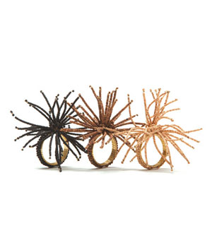 Kim Seybert Wood Spider Burst napkin rings