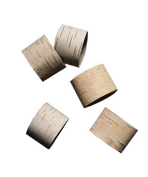 Split Birch Napkin Rings