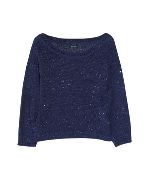 Splendid Sequin-Embellished Knitted Cotton-Blend Sweater