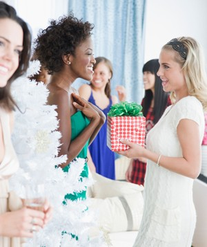 Women at a Christmas party