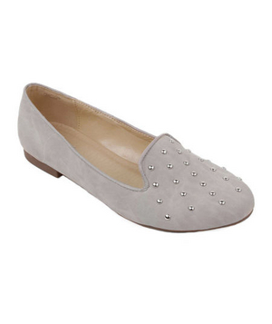 Wanted Studded Faux-Suede Flats
