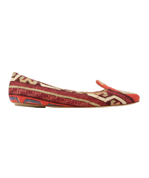 Belle by Sigerson Morrison Cotton-Tapestry Flats