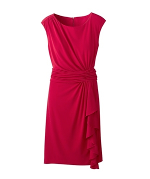Coldwater Creek Ruched Waist Knit Dress