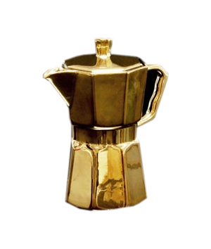 Gold Porcelain Percolator