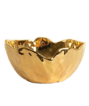 Gold Medium Ridge Nesting Bowl