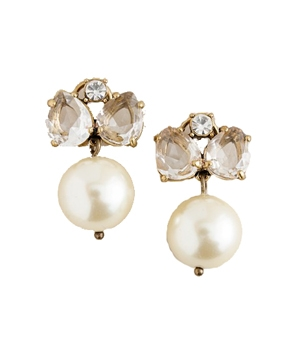 J.Crew Pearl Jewel Box Earrings
