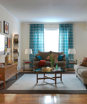 Shanta's living room after the makeover