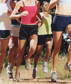 Group running cross country