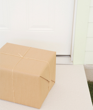 Parcel on doorstep