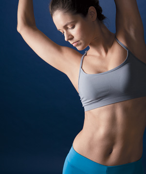 Model stretching abdominals