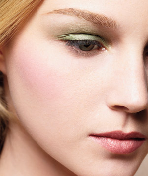 Model wearing pastel eye shadow
