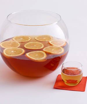 Bourbon and Ginger Cooler Punch