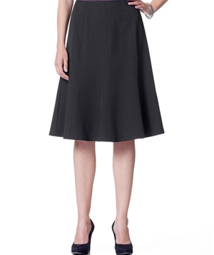 Coldwater Creek Fit and Flare Woven Skirt