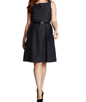 Lands' End Sleeveless Pintuck Dress