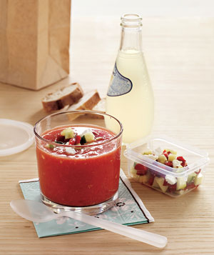 Gazpacho With Goat Cheese Salsa