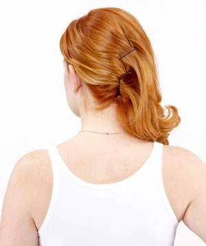 How to do an easy french twist real simple step 2 of the easy french twist solutioingenieria Gallery