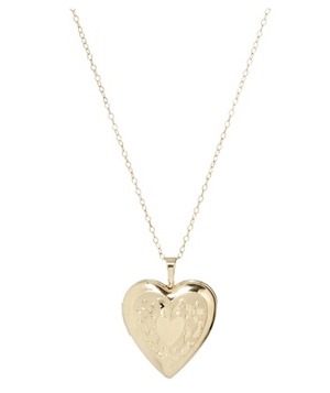 Target Gold Over Silver Fancy Heart Locket Pendant