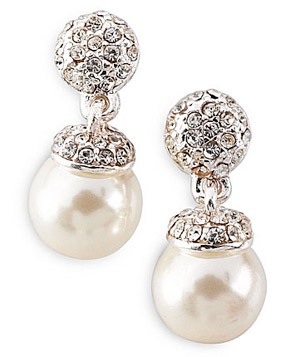 Cezanne 8mm Pearl Drop Earrings