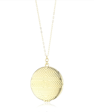 House of Harlow 1960 Medallion Pendant Locket
