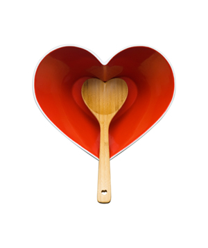 Holiday Heart Serving Bowl With Ladle